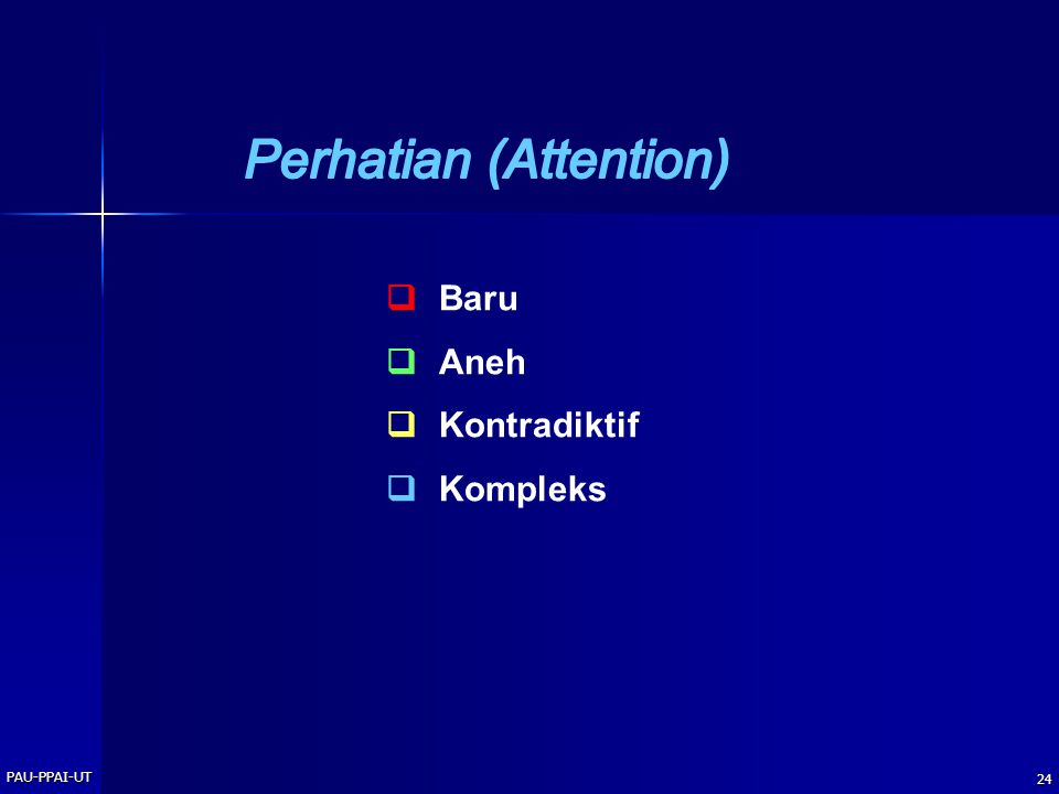 Perhatian (Attention)