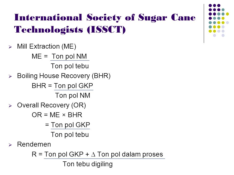 International Society of Sugar Cane Technologists (ISSCT)