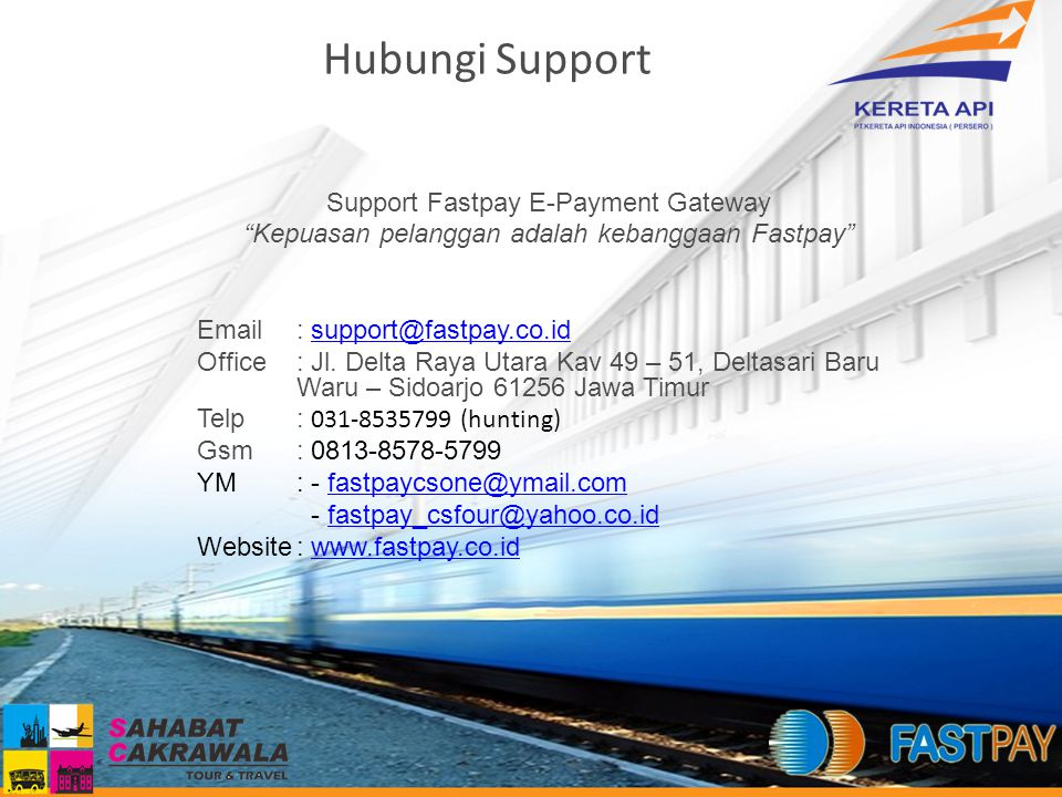 Hubungi Support Support Fastpay E-Payment Gateway