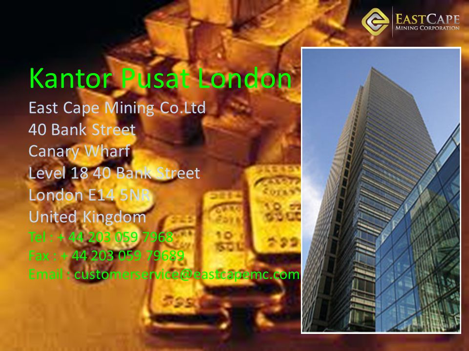 Kantor Pusat London East Cape Mining Co