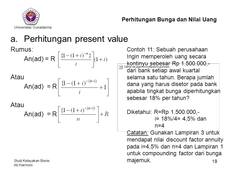 Perhitungan present value