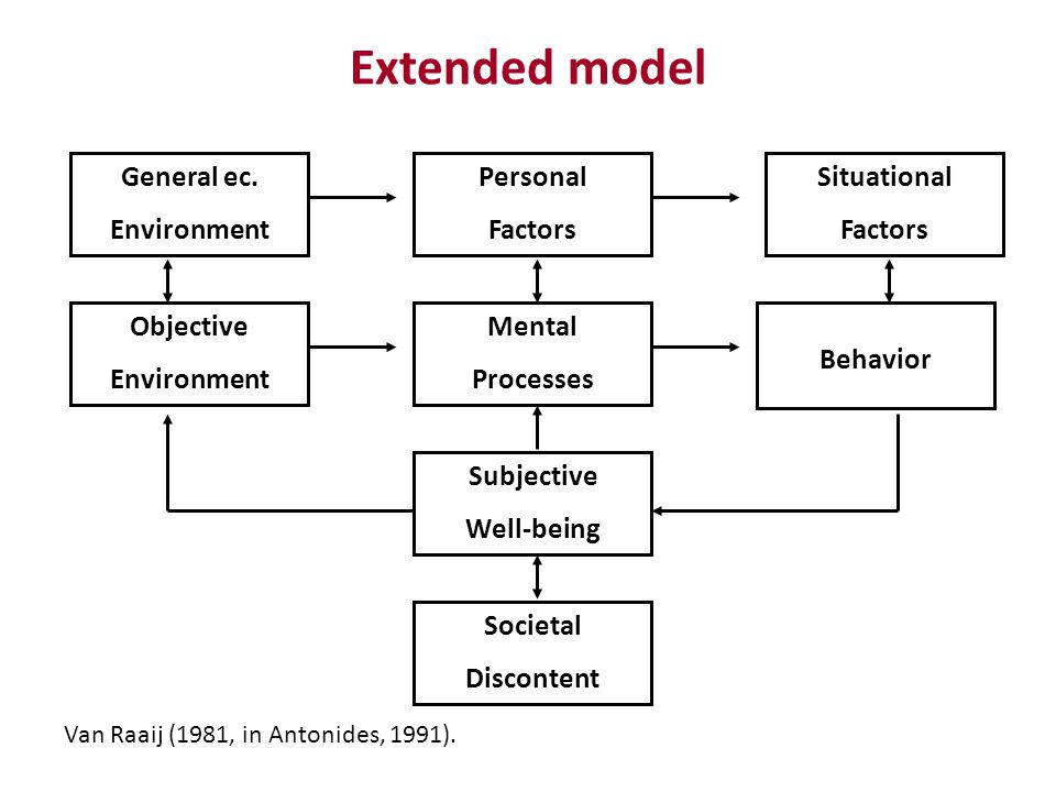 Extended model General ec. Environment Personal Factors Situational