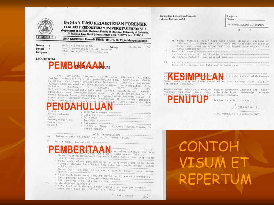 Visum Et Repertum Dr Rika Susanti Spf Ppt Download