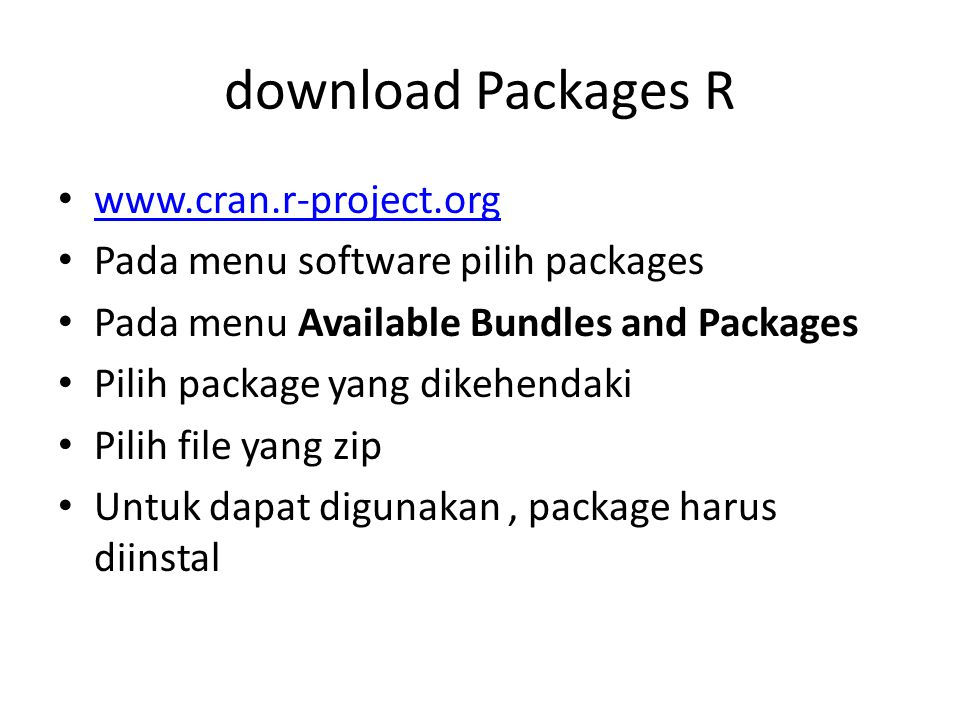 download Packages R www.cran.r-project.org