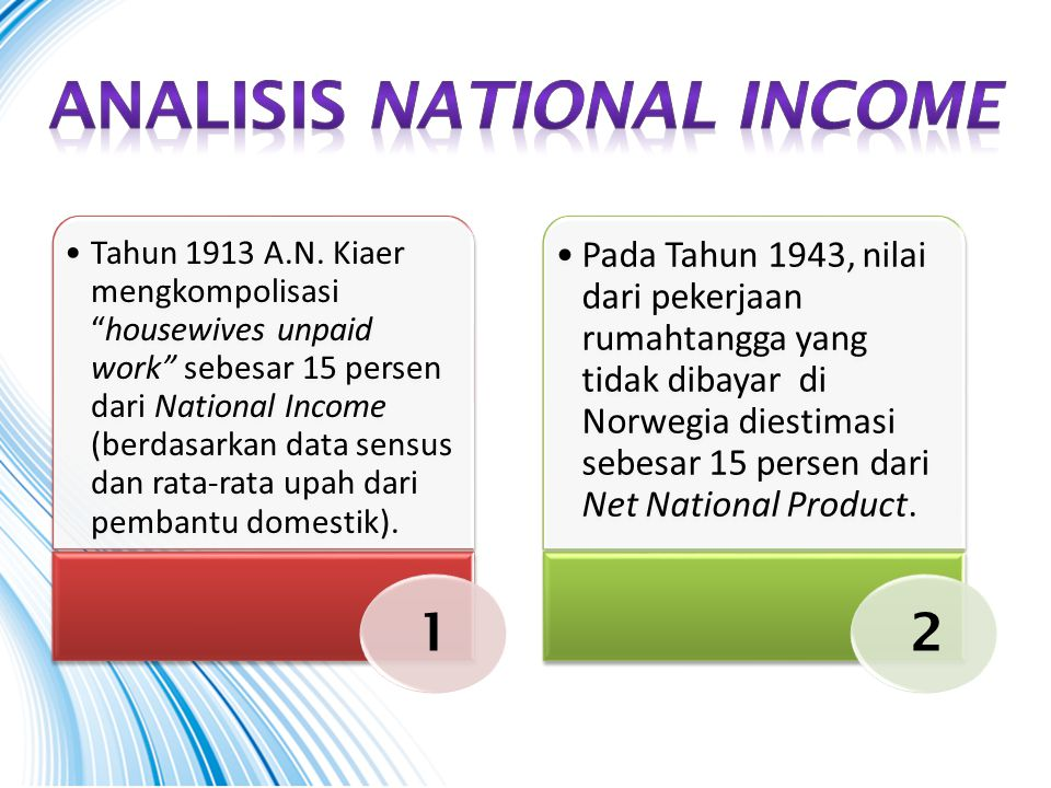 Analisis national income