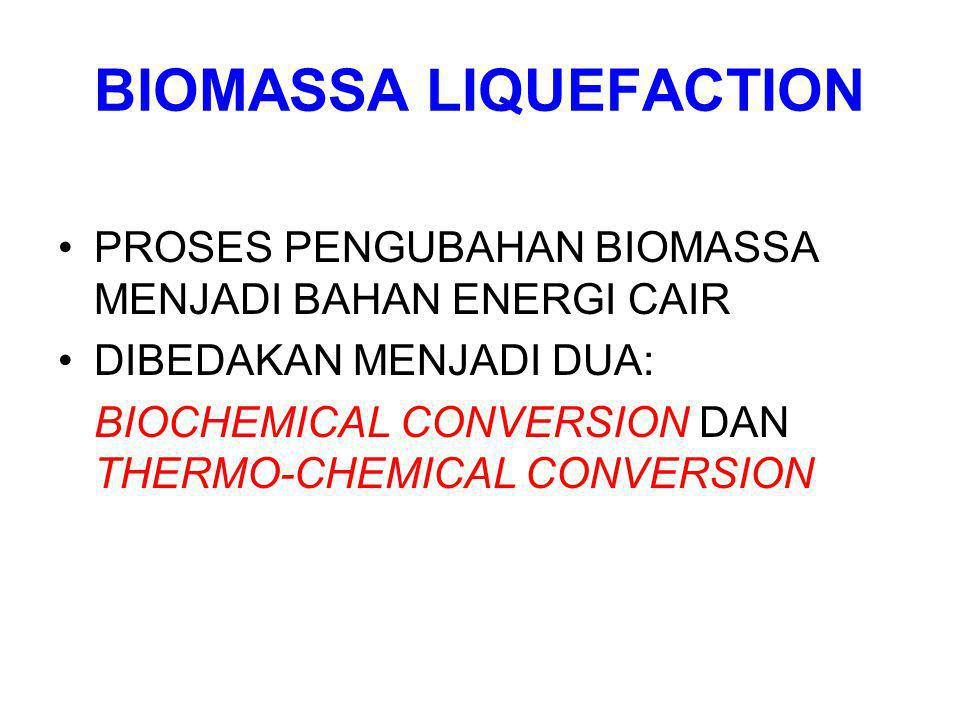 BIOMASSA LIQUEFACTION