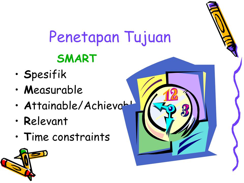 Penetapan Tujuan SMART Spesifik Measurable Attainable/Achievable