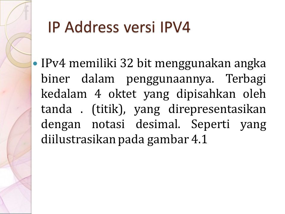 IP Address versi IPV4