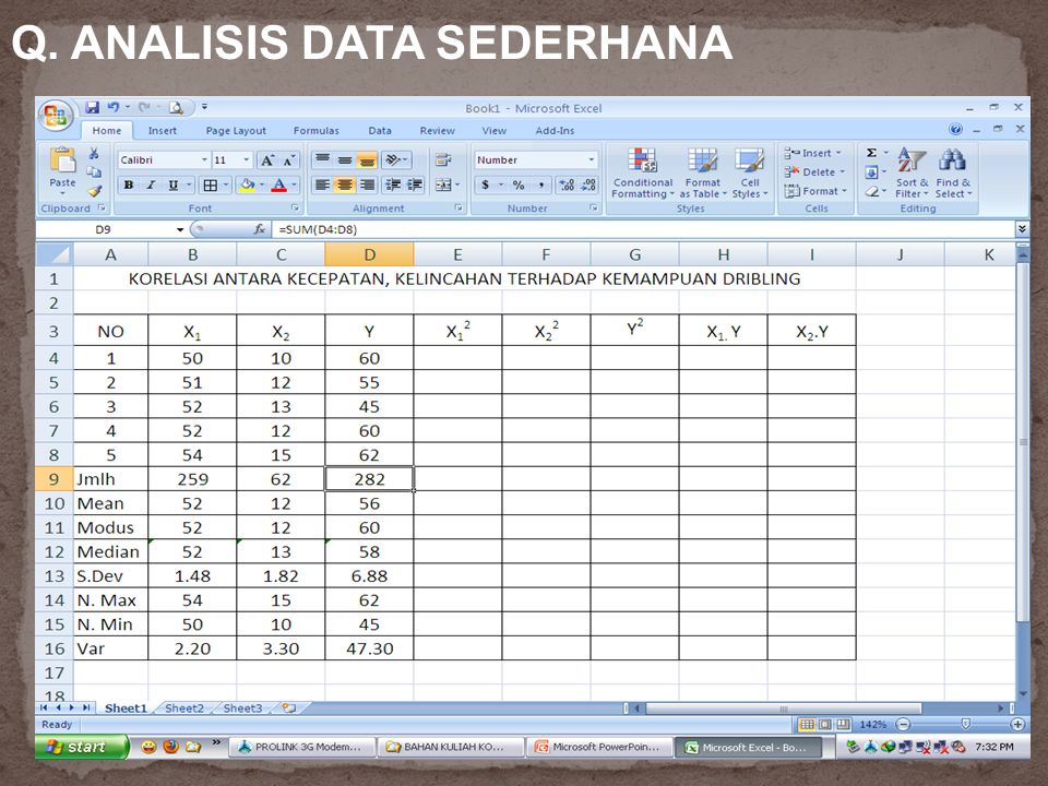 Q. ANALISIS DATA SEDERHANA