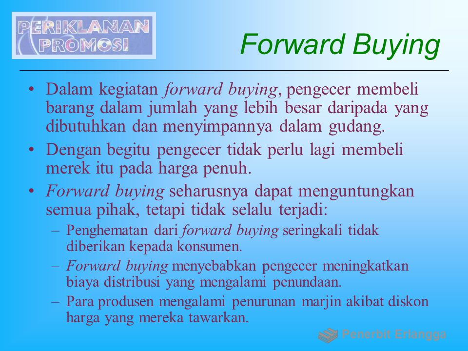 Forward Buying