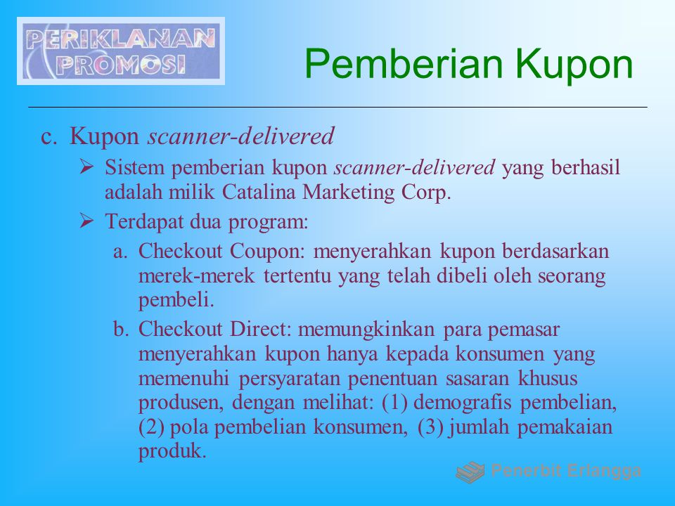 Pemberian Kupon Kupon scanner-delivered
