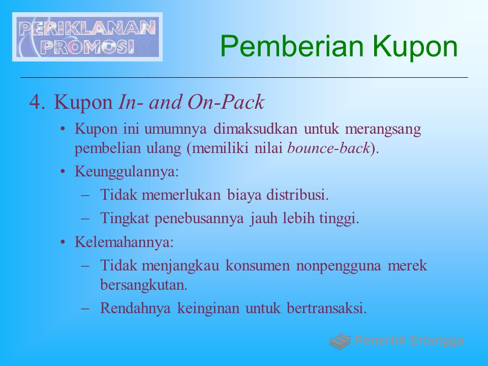 Pemberian Kupon Kupon In- and On-Pack