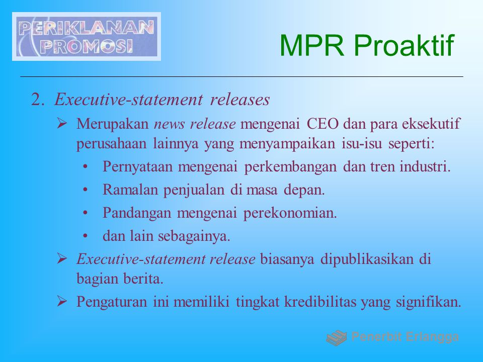 MPR Proaktif Executive-statement releases