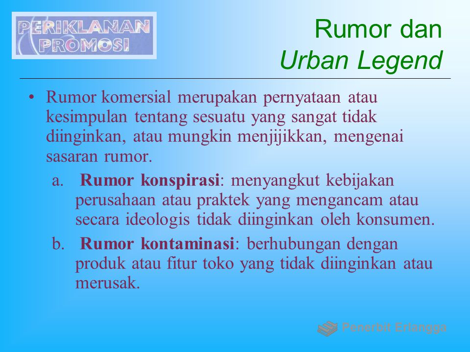 Rumor dan Urban Legend