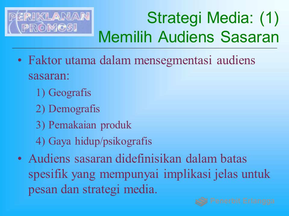 Strategi Media: (1) Memilih Audiens Sasaran