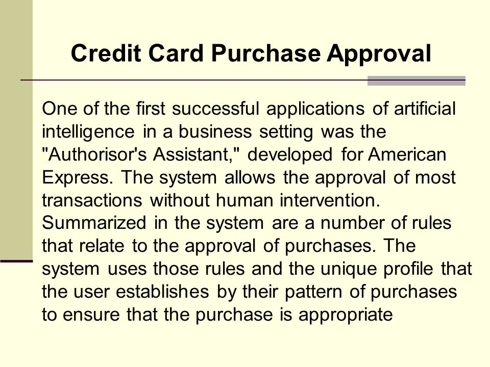 Credit Card Purchase Approval