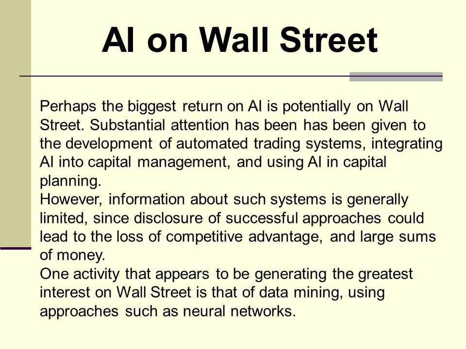 AI on Wall Street