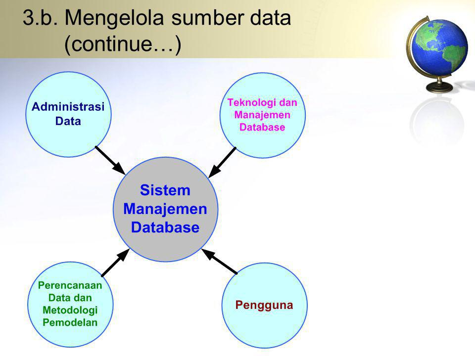 3.b. Mengelola sumber data (continue…)