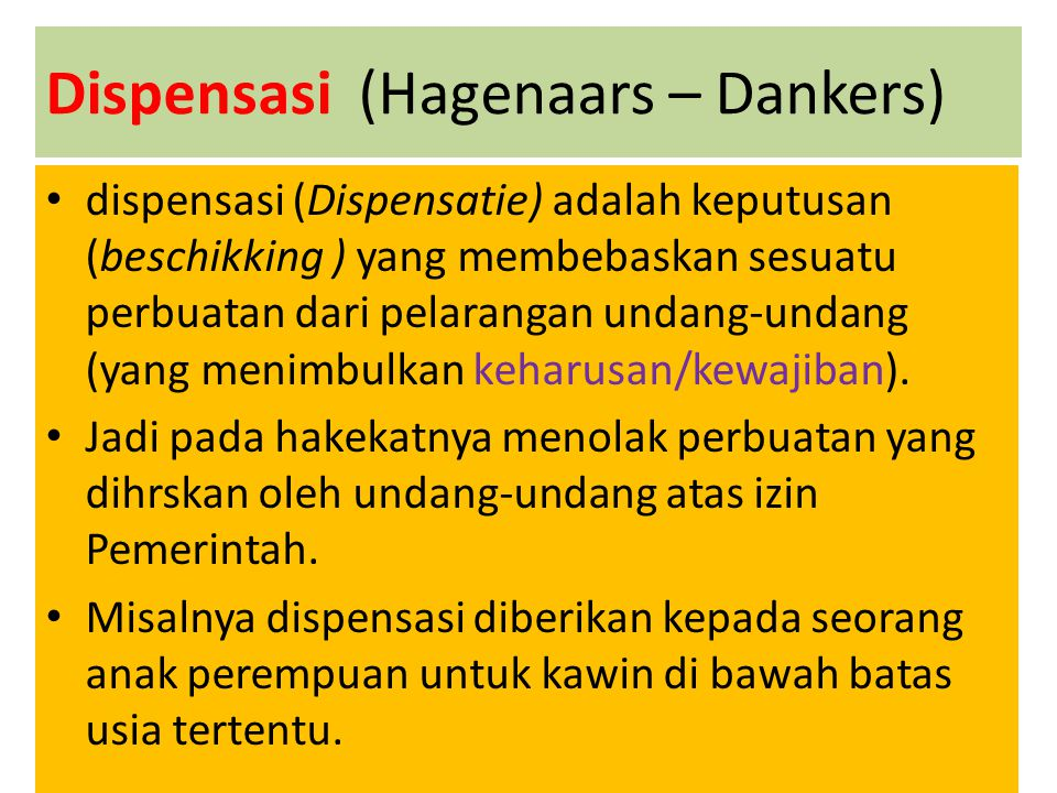 Dispensasi (Hagenaars – Dankers)