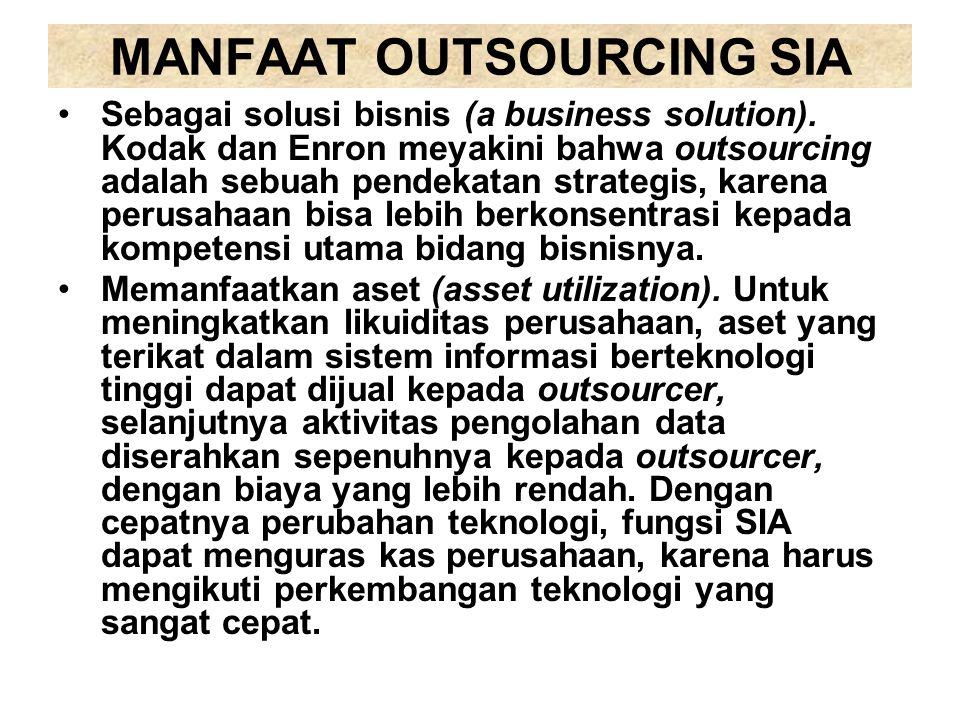MANFAAT OUTSOURCING SIA