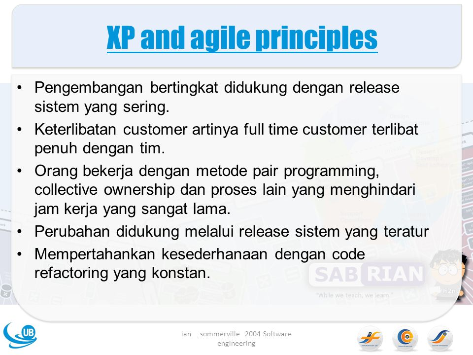 XP and agile principles