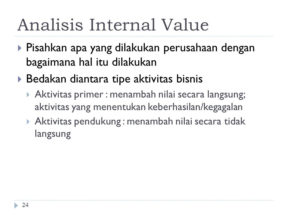 Analisis Internal Value