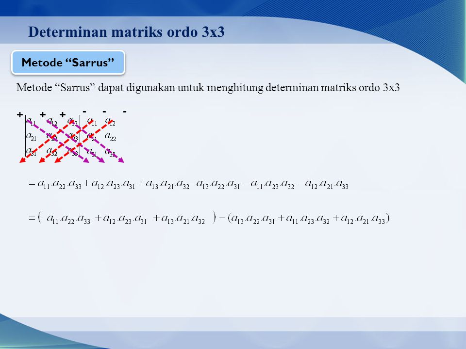 Determinan matriks ordo 3x3