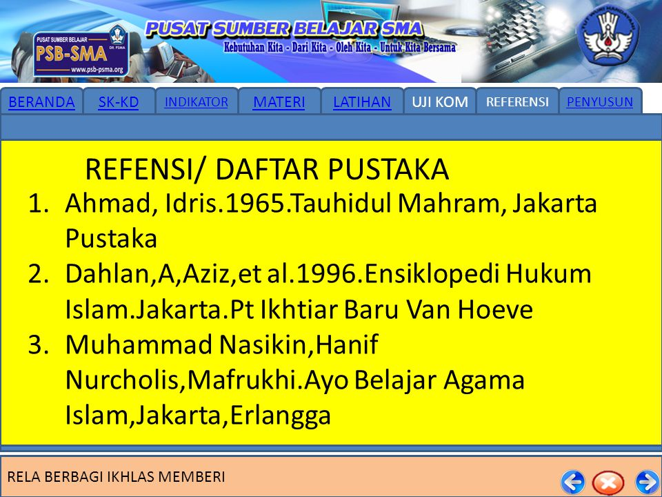 REFENSI/ DAFTAR PUSTAKA