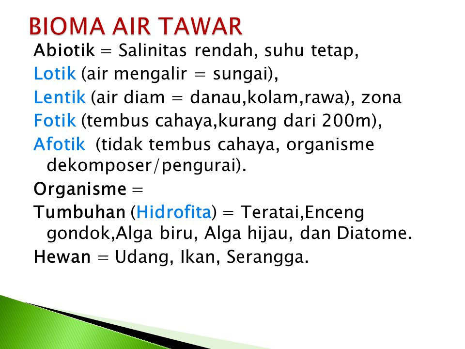 BIOMA AIR TAWAR