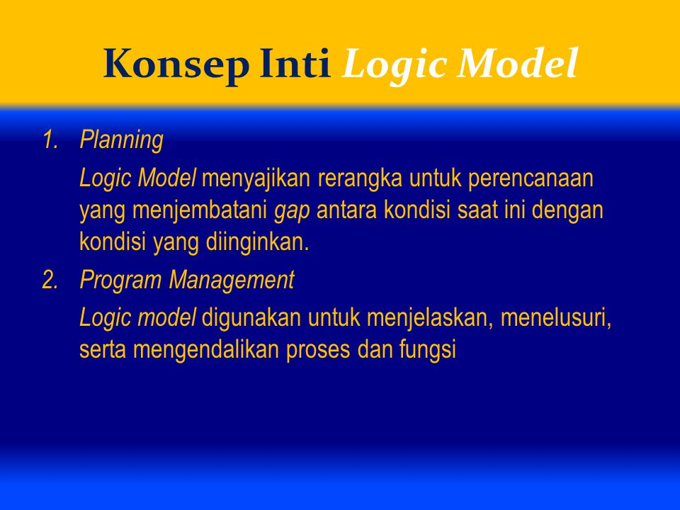 Konsep Inti Logic Model