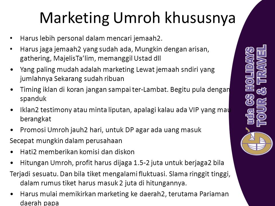 Marketing Umroh khususnya