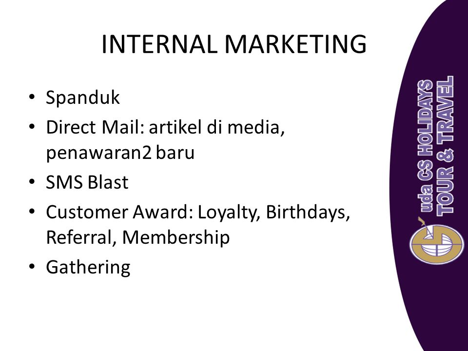 INTERNAL MARKETING Spanduk