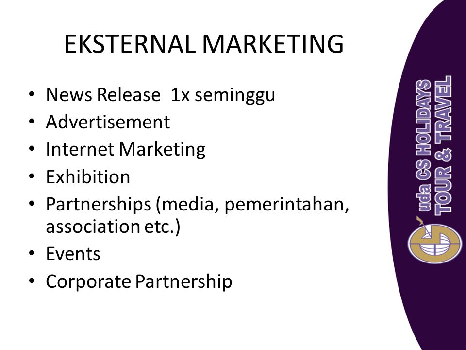 EKSTERNAL MARKETING News Release 1x seminggu Advertisement