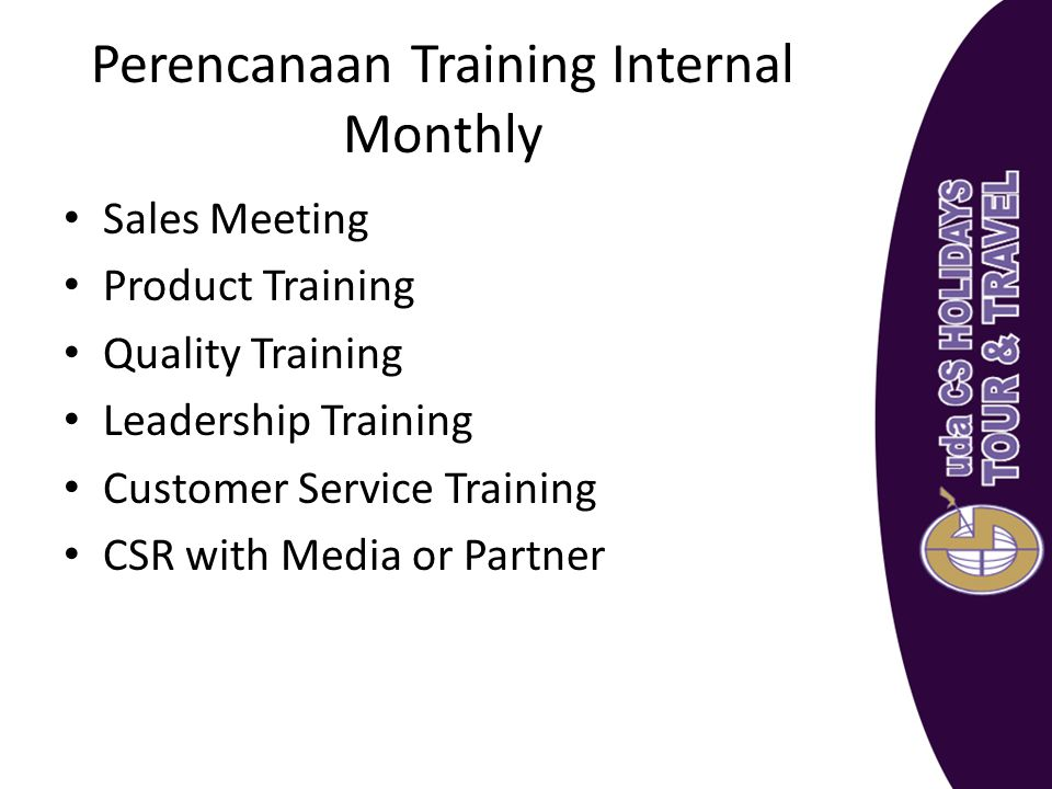 Perencanaan Training Internal Monthly