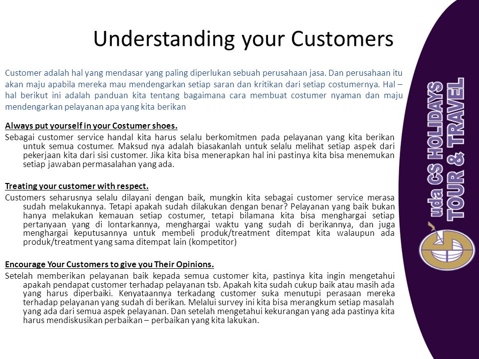 Understanding your Customers