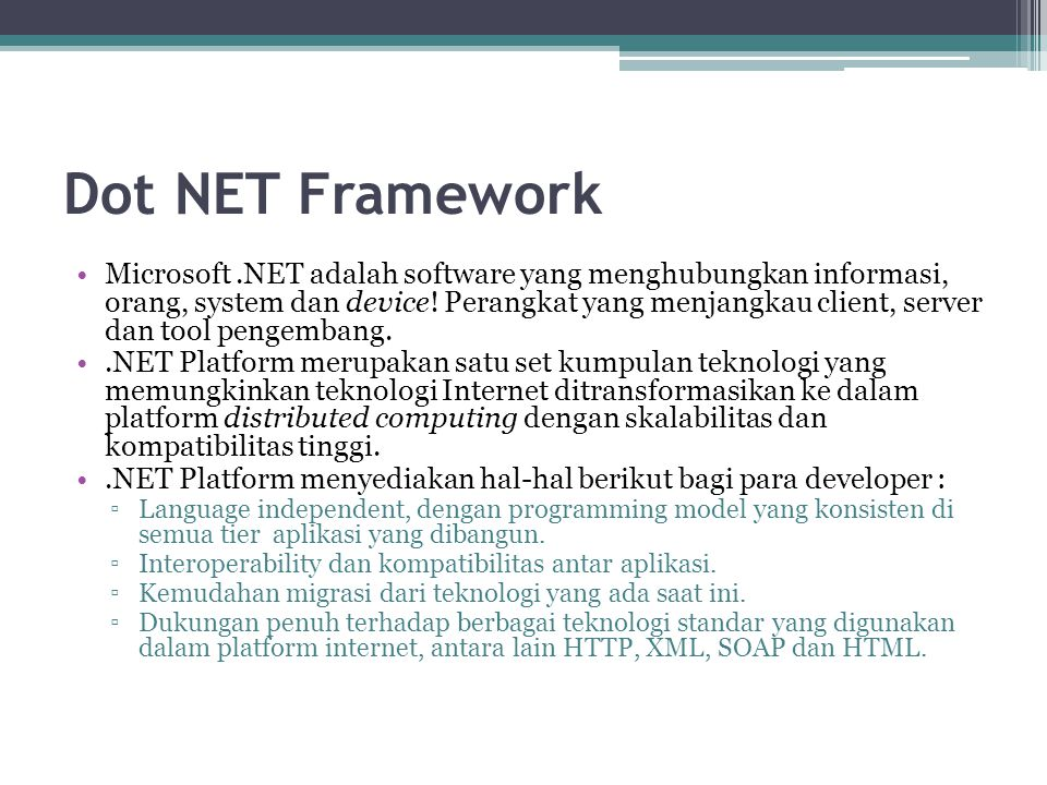 Dot NET Framework