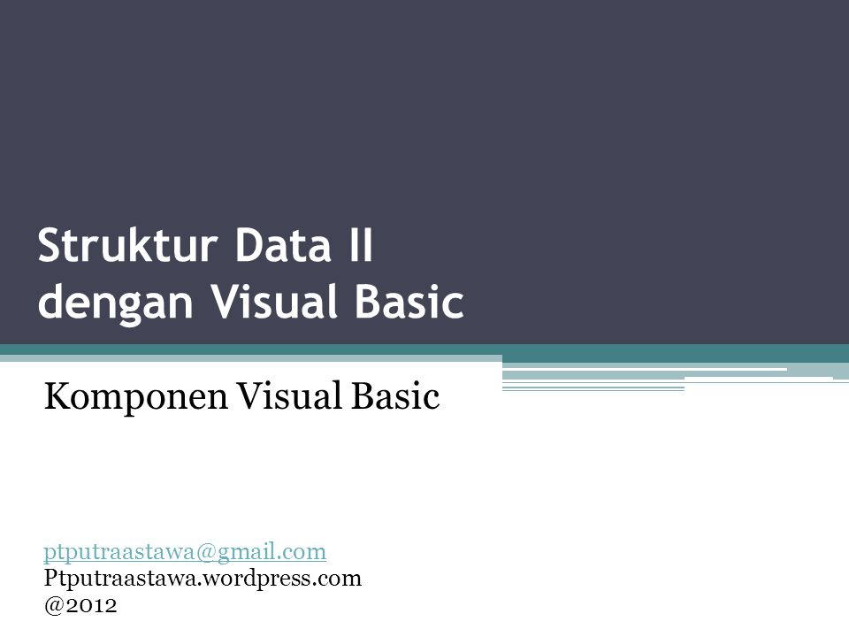 Struktur Data II dengan Visual Basic