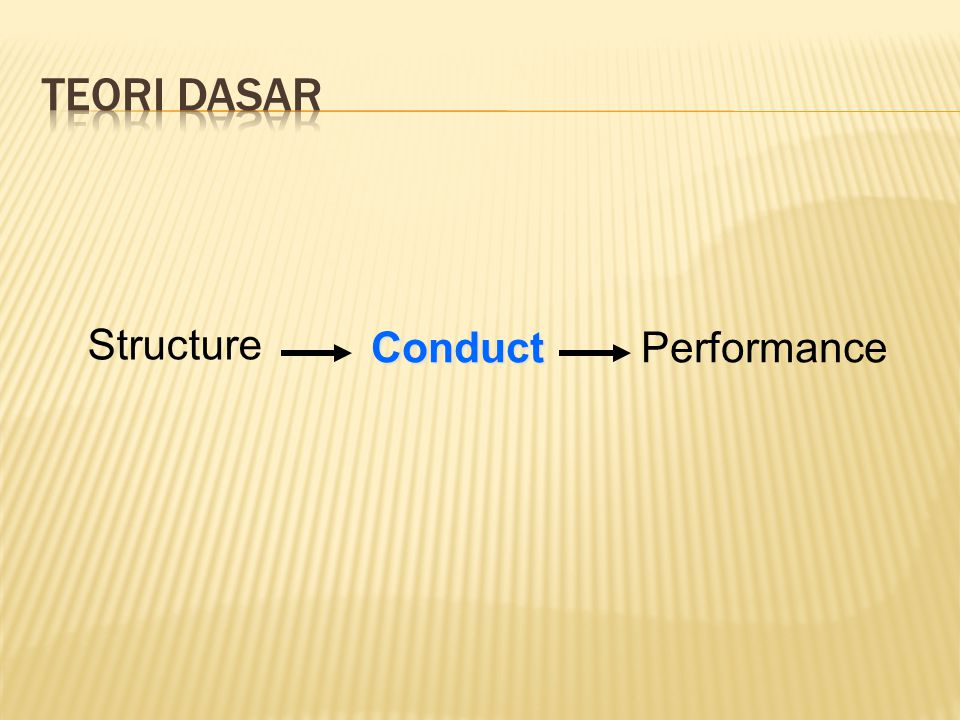 Teori dasar Structure Conduct Performance