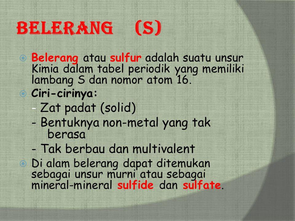Chemistry golongan kalkogen sma negeri 3 tasikmalaya ppt download 9 belerang ccuart Images