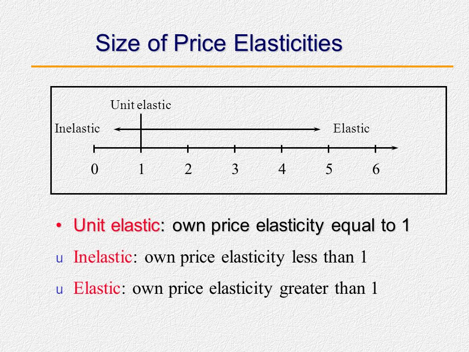 Size of Price Elasticities