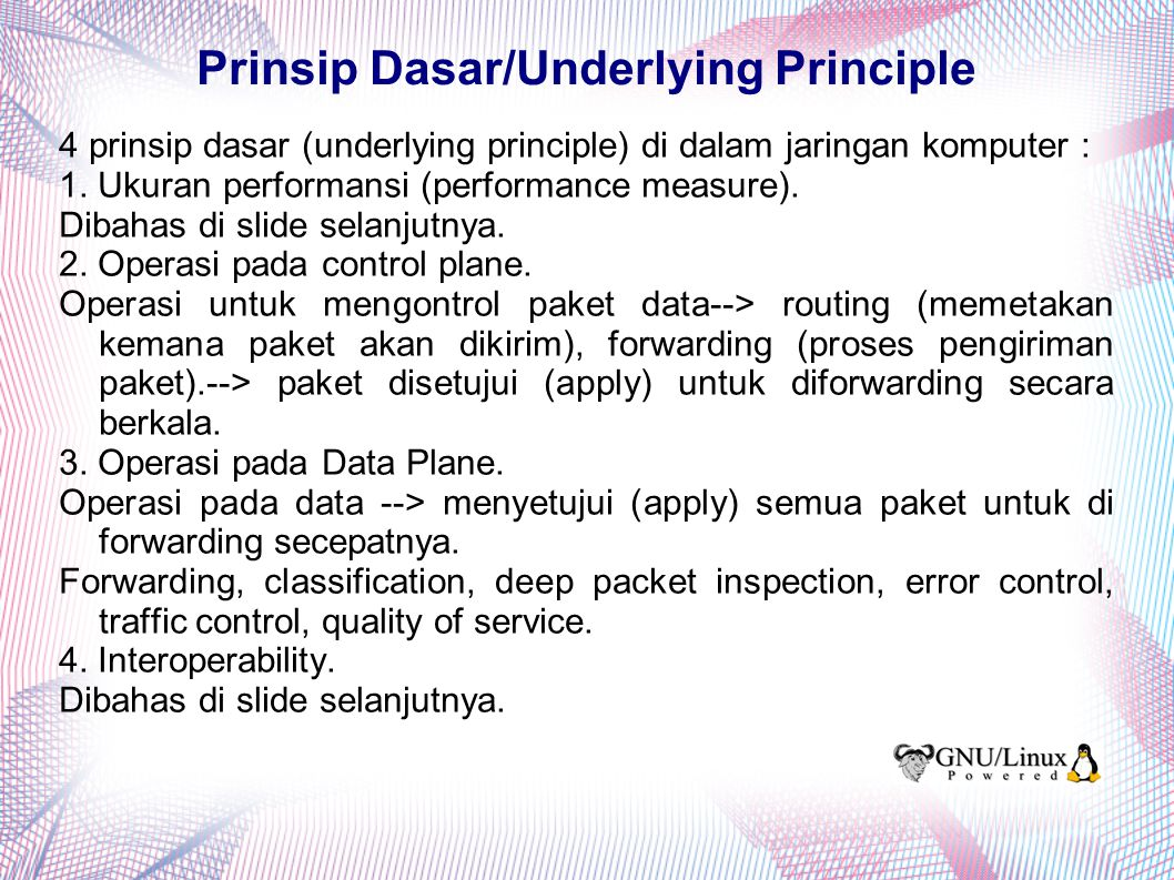 Prinsip Dasar/Underlying Principle