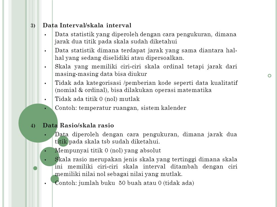 Data Interval/skala interval