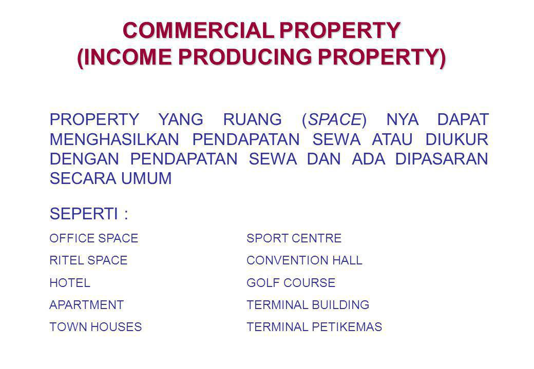 (INCOME PRODUCING PROPERTY)
