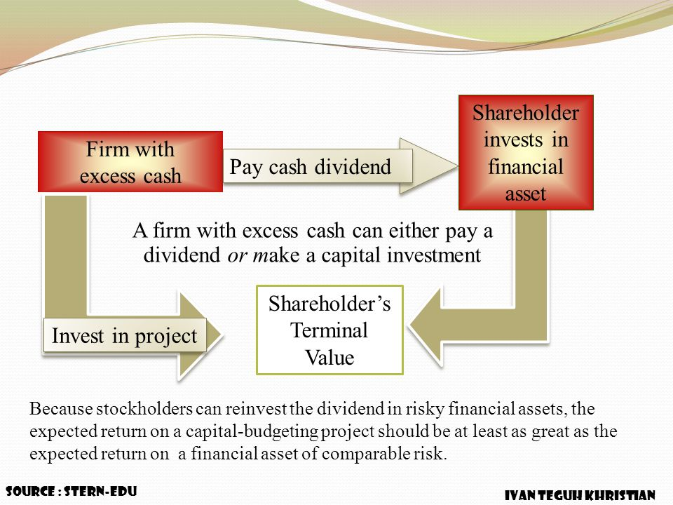 Shareholder's Terminal Value Pay cash dividend