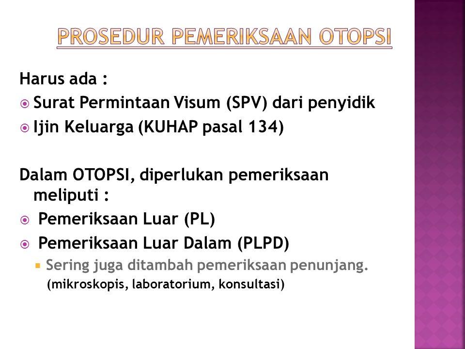 Teknik Otopsi Visum Et Repertum Ppt Download