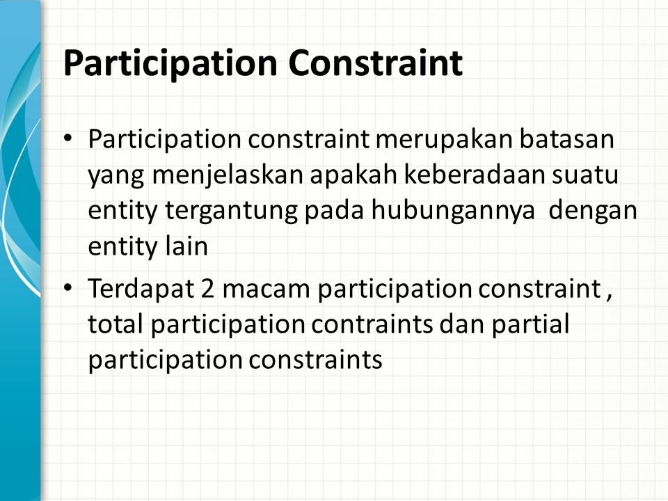 Participation Constraint