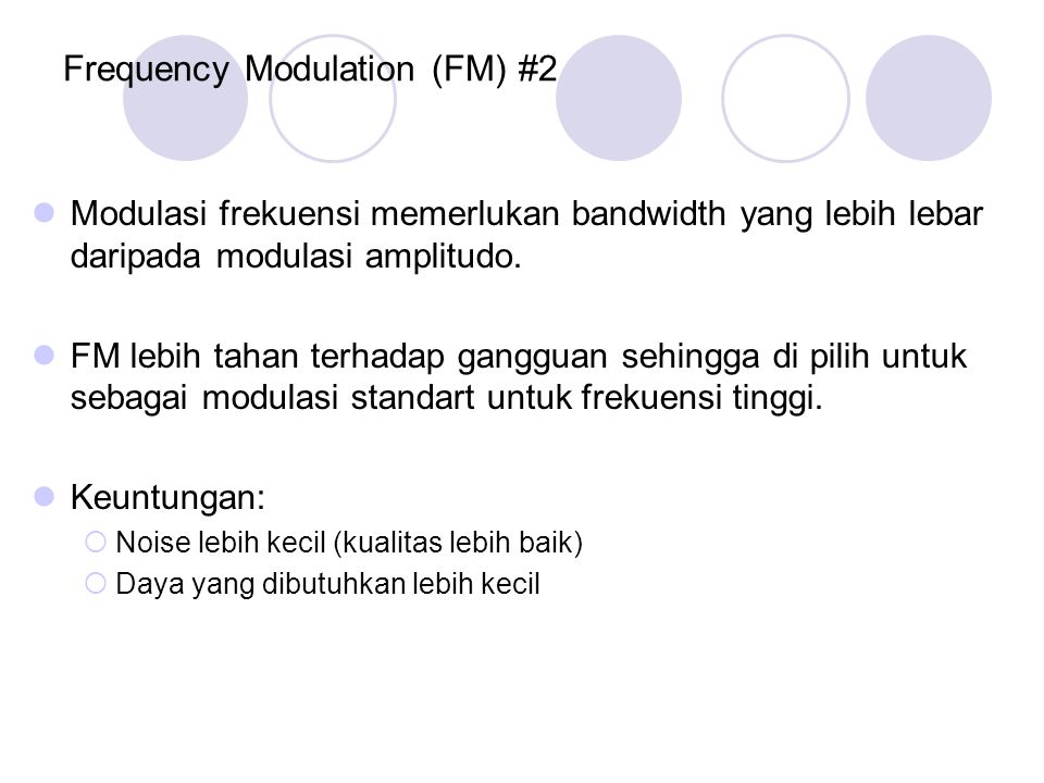 Frequency Modulation (FM) #2