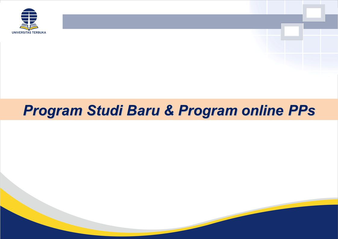 Program Studi Baru & Program online PPs