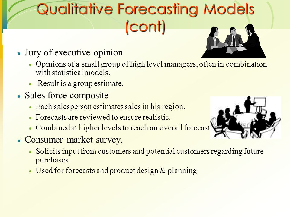 Qualitative Forecasting Models (cont)