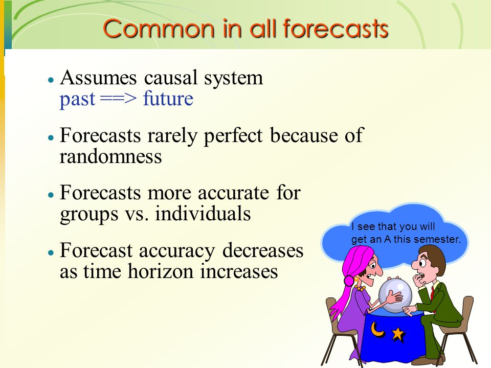 Common in all forecasts
